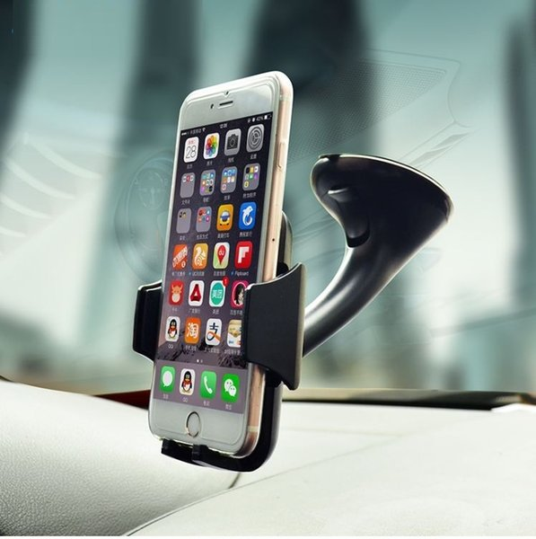 Car Mobile Phone Holder For Iphone Samsung Galaxy Note S6 edge S5 Adjustable 360 Rotate Support 6.0 inch (Retail)