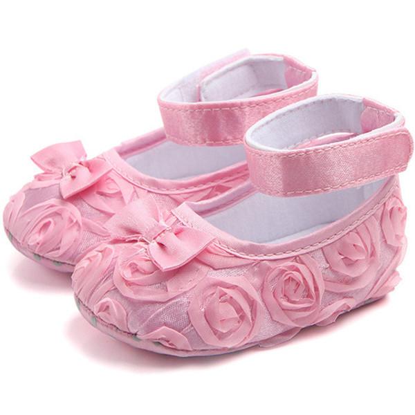 2018 Hot 0-18Month Newborn Flower Princess Infant Shoes Baby Girl Toddler Shoes First Walkers Schoenen Sapatos Zapatos De