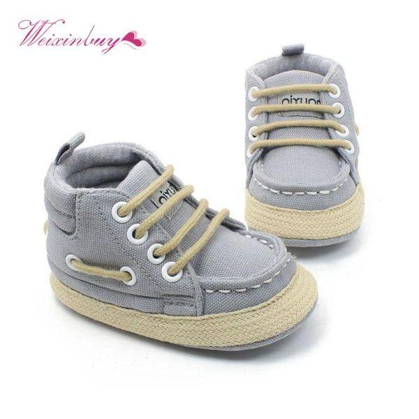 Toddler Baby Winter Shoes Girl Boy Soft Sole Canvas Anti-slip Infant Prewalker First Walkers 0-18M