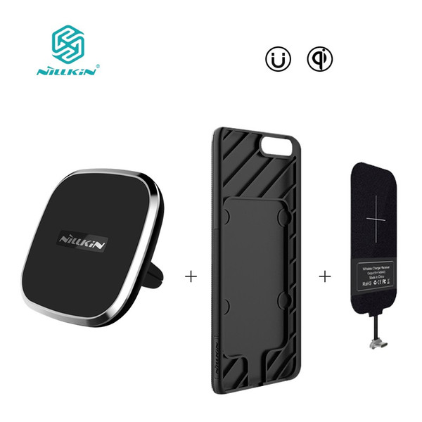 new arrival 343c9 d2f31 NILLKIN Magnetic Wireless Receiver Case And Qi Wireless Charger Pad  Portable For One Plus 5 Oneplus 5 Cover For Xiaomi Mi6 Cover 5600mah Power  Bank ...