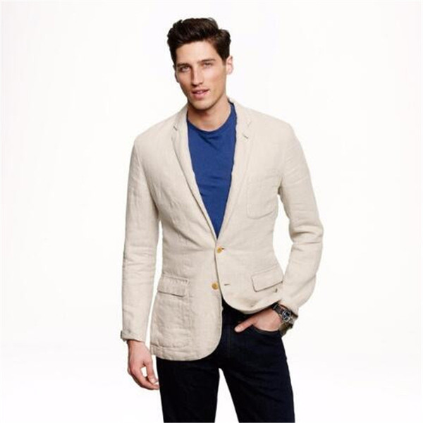 Casual Linen Summer Wedding Suits For Celebrity Summer Style Men Tuxedos Mens Siuts Terno Masculino (Jacket+Pant+Tie)