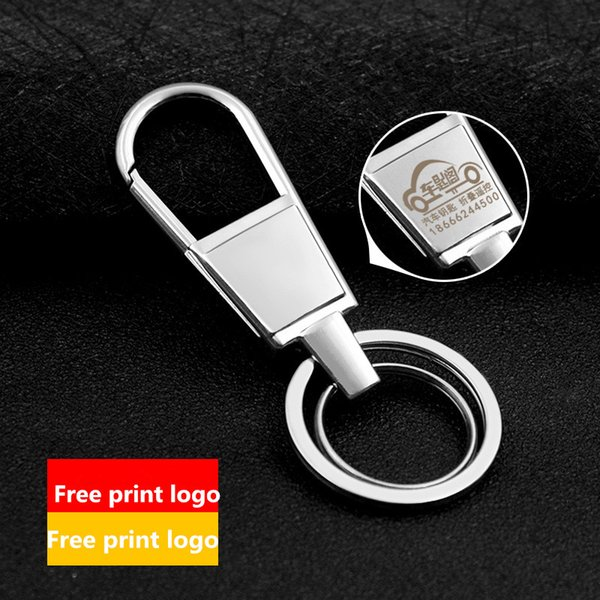 customize logo High Quality Brand Design Cool Stainless Steel Keychain For Man Women Car Key Chain Key Ring Birthday Gift Key Holder