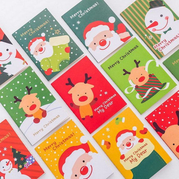 40pc/lot Cute Christmas style books / students cute soft copy of the small not/ cartoon notebooks