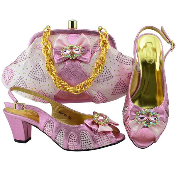 d6e7614f5979a Son İtalyan Tasarımcı Ayakkabı ve Çanta Eşleşen Seti Nijeryalı Tarzı  Ayakkabı ve Çanta Takımı Taklidi Taklidi Kadın Ayakkabı Pompalar