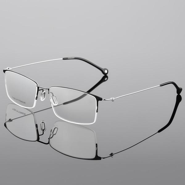 a415fd8b7 Homens Óculos de Armação Não Parafuso Homem 100% Óculos De Titânio Óptico  High End Espetáculo