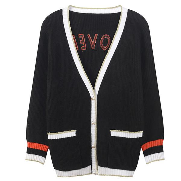 75 2018 осень марка тот же стиль свитер мода выпускного вечера свитер кардиган женская одежда с круглым вырезом с длинным рукавом YL