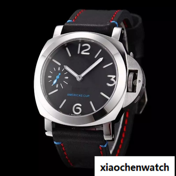2018 LUXURY WATCH Quality Factory Supplier Luxury Watches Stainless Steel Black Dial America's cup Pam00724 Pam724 hand-winding Mens Watches