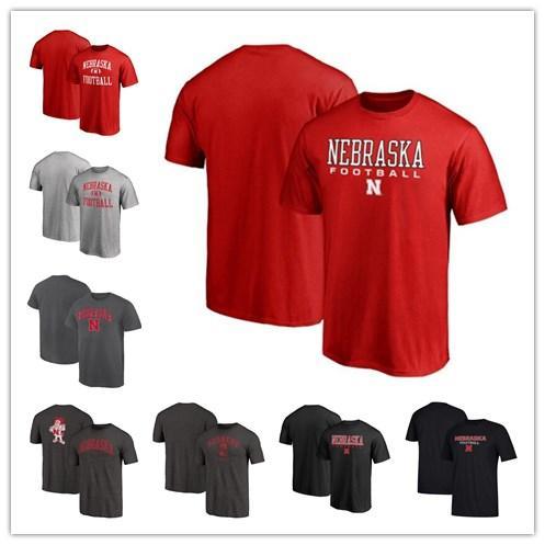 Mens Nebraska Cornhuskers Fanatics Branded Neutral Zone Campus T-Shirt True Sport Football T-Shirt red grey black size S-XXXL free shipping