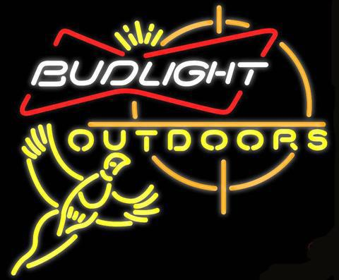 "Outdoors Pheasant Hunting Bud Light Neon Sign Custom Handmade Real Glass Tube Beer Bar Hotel Club Store Camping Display Neon Signs 24""X20"""