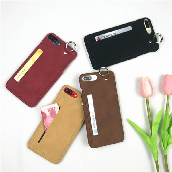 Iphone 7/8 novo shell do telefone móvel simples função de anel de cartão caso de telefone apple X phone case atacado