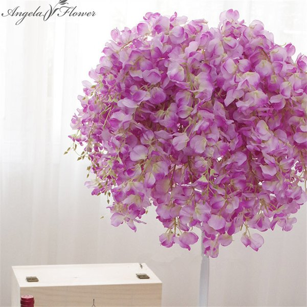 25pcs/lot 69cm artificial wisteria silk decorative flower wedding Bouquet for home party decoration Hotel/studio Photo props haif