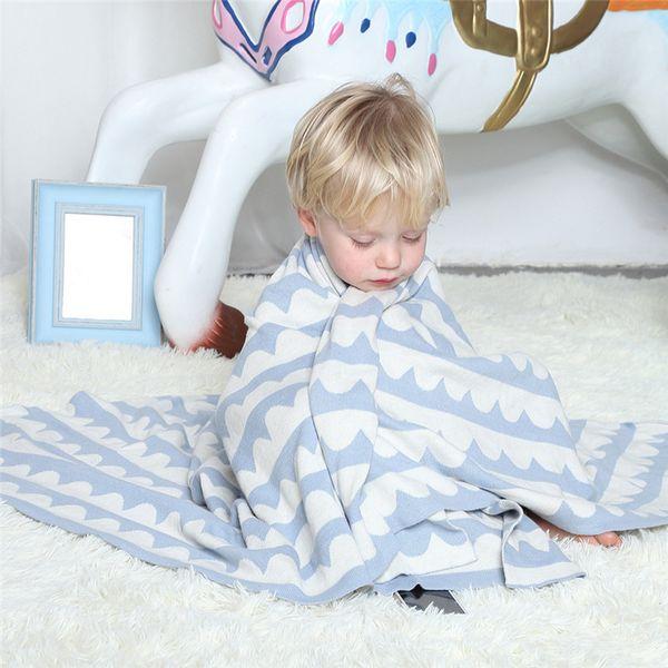 New Infant Children Newborn Cartoon Rabbit Knitting Baby Blanket Bedding Quilt Play Blanket Crib Wrap Newborn Photography Props
