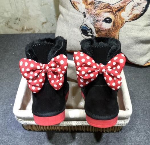 2018 Fashion Australia WGG New Mickey classic tall winter boots real leather Bowknot women's snow boots shoes Adults children EUR22-EUR44