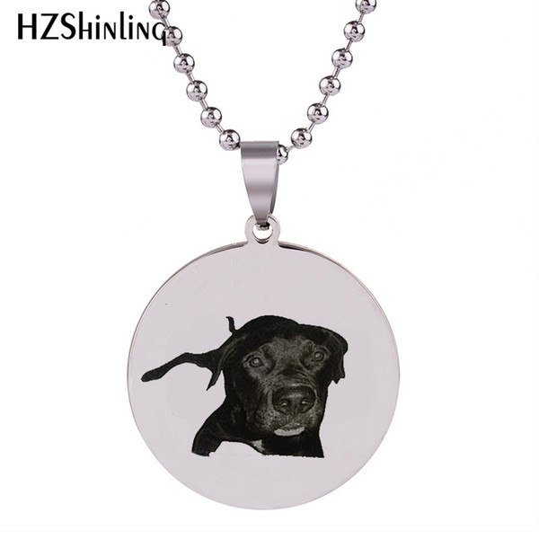 2018 New Pet Memorial Necklace Art Silver Stainless Steel Pendant Round Necklaces Hand Craft Jewelry Ball Chain HZ7