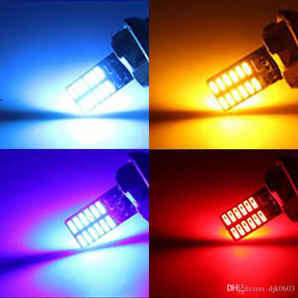 10 pcs 6 Couleurs Voiture LED T10 194 W5W Canbus 24 SMD 4014 Aucune Erreur T10 Led Ampoule Parking Auto Univeral Lampes Lecture Lumières 12 V
