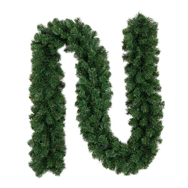 2.7m New Green Christmas Garland Wreath Xmas Home Party Christmas Decoration Pine Tree Rattan Hanging Ornaments Drop Shipping