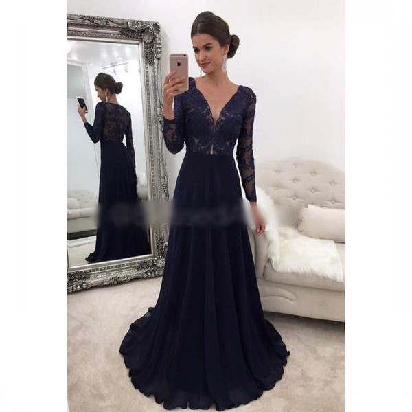 2018 sexy cheap plus size long lace black girl prom dresses mother of the bride long sleeves formal evening gowns african prom dresses long