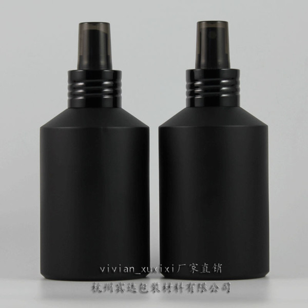 200ml black frosted Glass lotion bottle with black aluminum pump,cosmetic packing,cosmetic bottle,packing for liquid