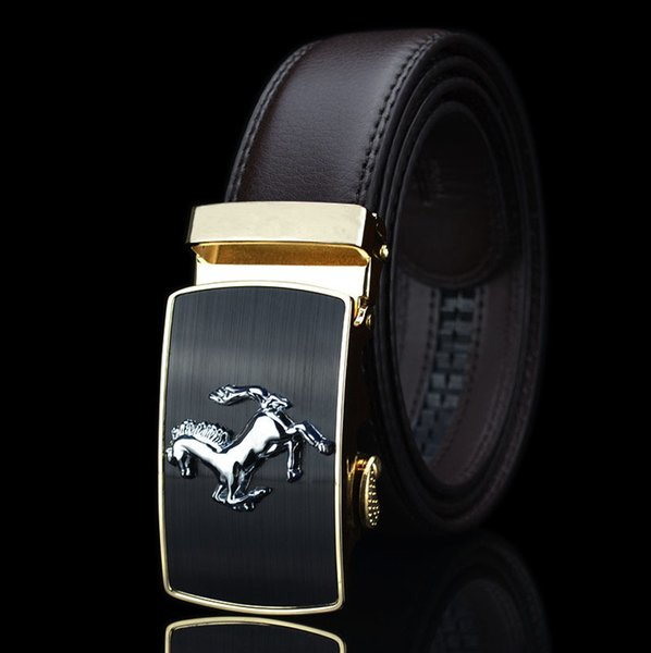 gold buckle and coffee belt