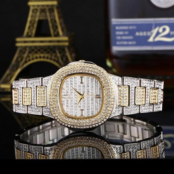 Bussiness reloj de cuarzo famosa marca Bu Diamond reloj de acero inoxidable reloj de las mujeres reloj de oro reloj de las señoras diseñador 07
