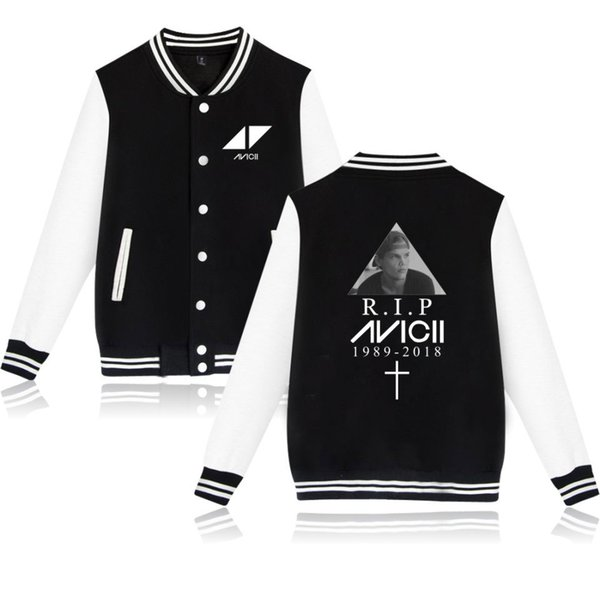 Avicii KPop Baseball Jacket Print Collage Style Winter Women/Men Fashion Coat Women/Men Fans Casual Baseball Jacket