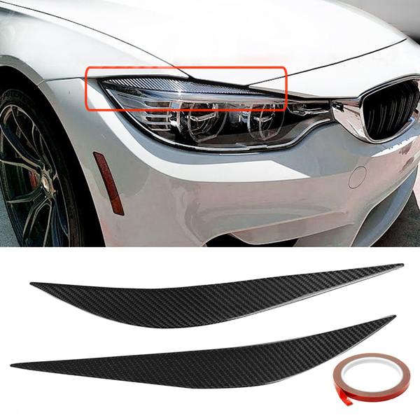 Carbon Front Augenklappe Abdeckung Paar Augenbrauen Trim Abdeckung Auto Zubehör Styling Scheinwerfer für BMW 2014-2017 F80 M3 F82 F83 M4