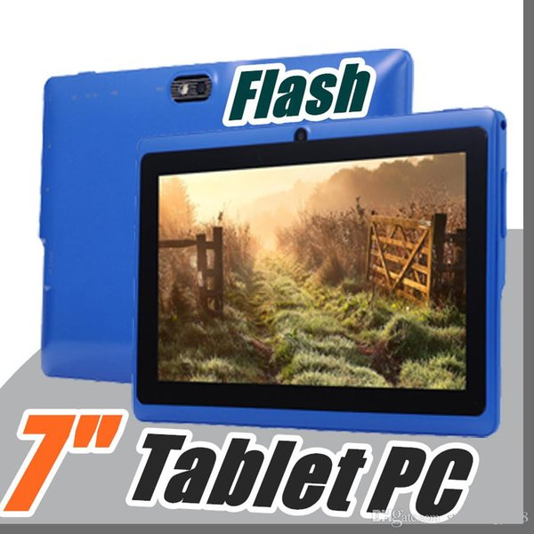 """top popular 100X product 7 inch Android4.4 Google better Battery Tablet PC WiFi Quad Core 1.5GHz 512MB 8GB Q88 Allwinner A33 7"""" Dual Camera C-7PB 2019"""