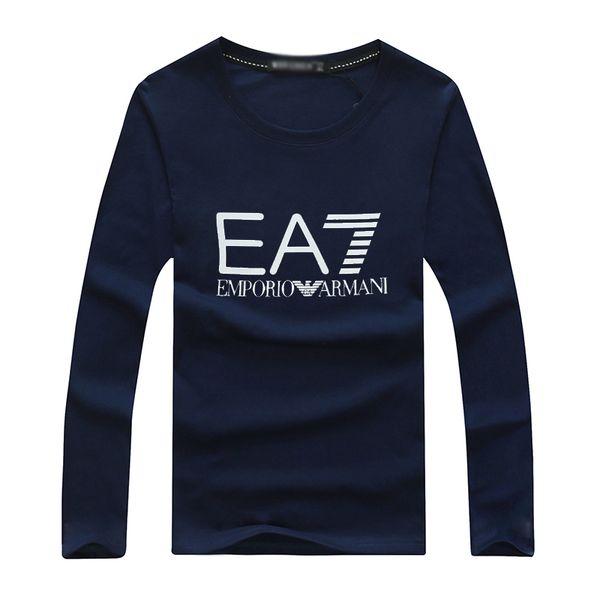 2019 Autunno Magliette per uomo Rosso lunghe strisce lettere T Shirt Designer di marca Uomo Abbigliamento manica lunga Sottile felpa con cappuccio Tshirt uomo Top