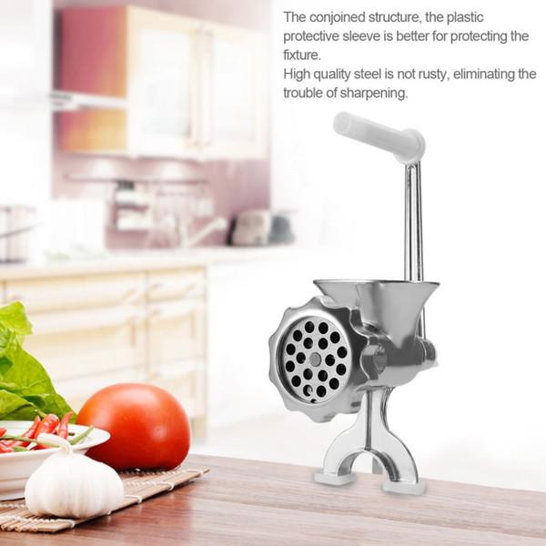 Outil de manivelle de table de saucisse de machine de hachoir de meuleuse de viande manuelle en aluminium de fonte pour le coupeur de bœuf de coupeur de cuisine à la maison