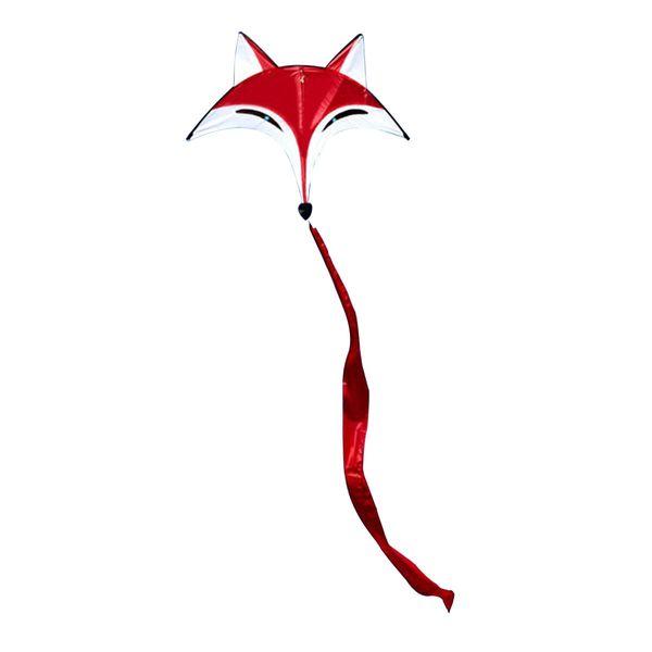 Tessuto in poliestere 95cmx80cm Outdoor Sport Red Fox Flying Kite Tail Toy Bambini Attività all'aperto
