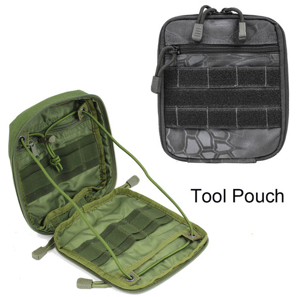 Tactical First-Aid Utility Pocket 1000D Nylon waterproof molle tool pouch For Vest & Belt Treatment Pack Outdoor Waistpacks