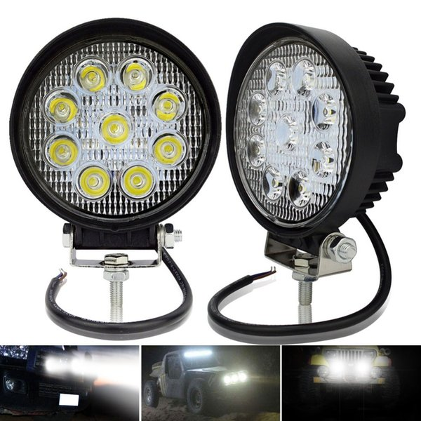 Safego 2pcs ATV 4 inch 27W led work light lamp 12V LED tractor working lights bar spot Flood off-road off road 4X4 car truck 24V