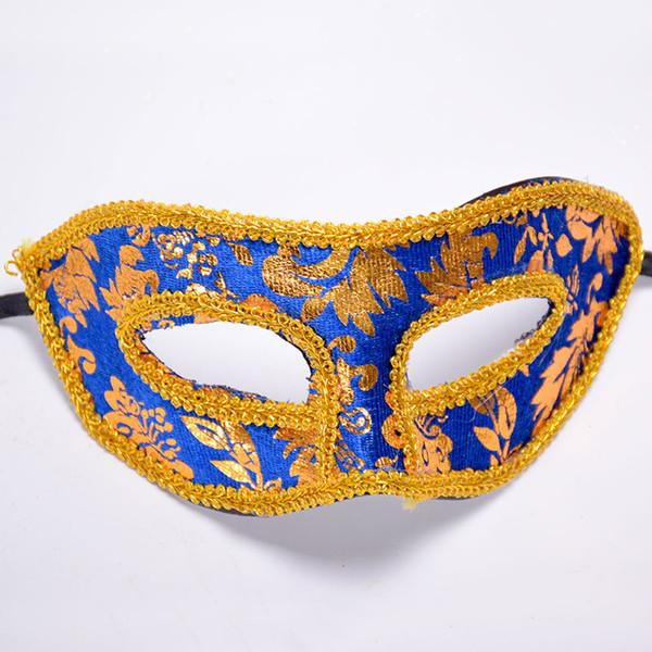 Halloween Half Face Mask Masquerade Mask Party Festival Gold Red Men Venecia Italia Lace Bright Masks