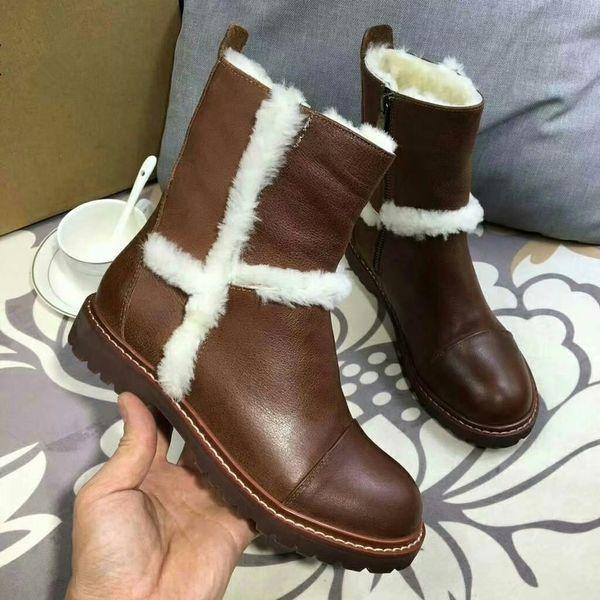 Australian Boots ug Women Snow Boots Waterproof Leather Winter Warm Outdoor Long Boots Winter Non-Slip Warm designer shoes Size 35-40
