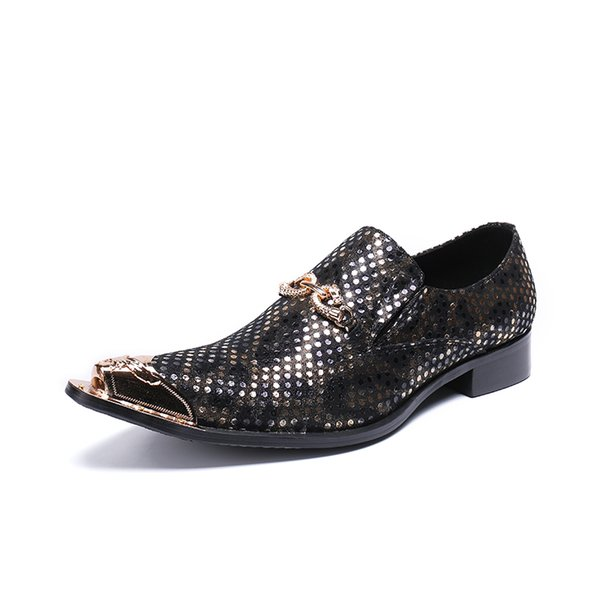 Summer New Genuine Leather Hole Mens Oxfords shoes pointed toe Man Office Party Wedding Slip On Dress shoes