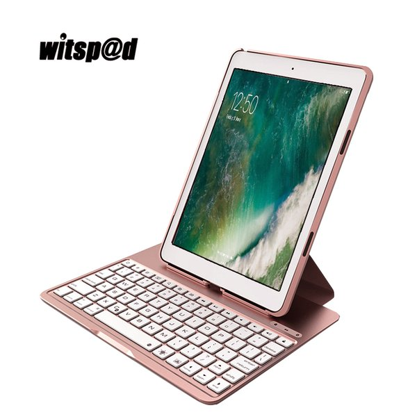 Portable Bluetooth Keyboard 3.0 for iPad Pro 9.7 Tablet Case Cover with Standby 60 day Backlight Keyboard for iPad Air 2
