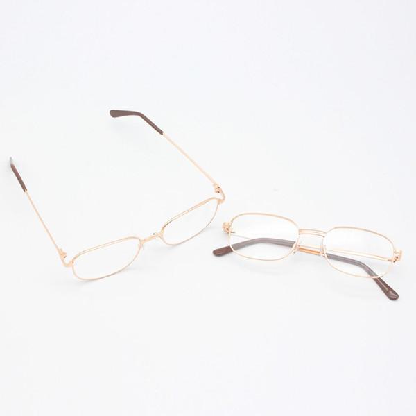 Online Cheap Fashion Reading Glasses Lens Rimmed Gold Frame Metal ...