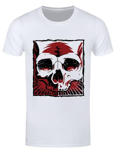 2018 Nouvel été Cool Fashion Harajuku Tee Shirt T-shirt Blanc Cardinal Cranium Hommes Vêtements Drôles Casual T-shirts