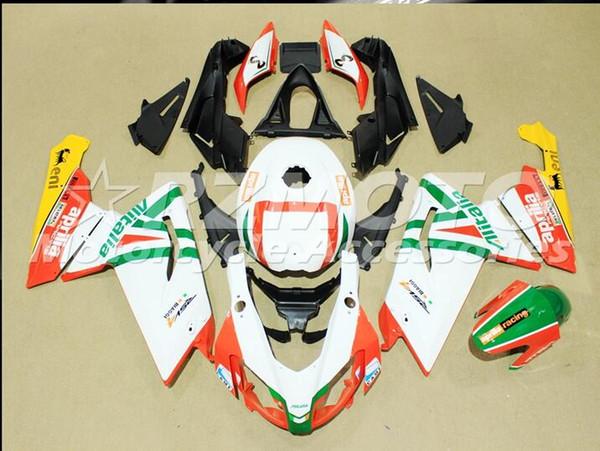 3 regalos gratuitos Carenados completos para Aprilia RS125 2006 2008 2009 2010 2011 RS125 06-11 RS125 RS 06 07 08 Rojo Blanco X105