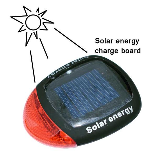 Nova Energia Solar LEVOU Traseira Piscando Luz Traseira Da Bicicleta Da Bicicleta Ciclismo Segurança Lâmpada de Advertência Ajustável Braçadeira Acessórios Da Bicicleta