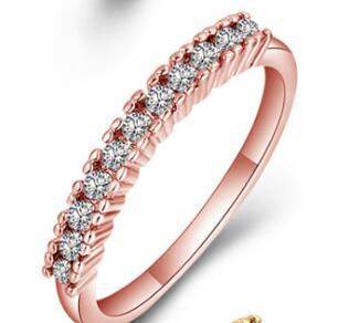 Розовое золото Белый кристалл