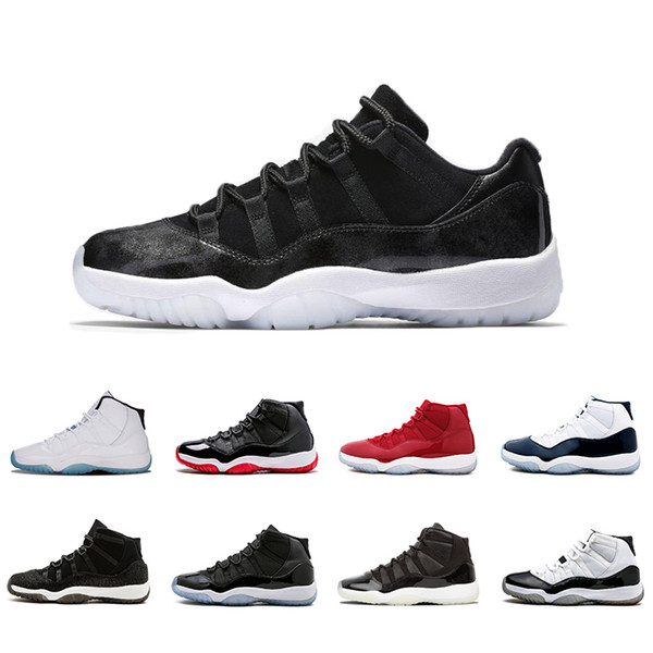 new 11s cap and gown xi men women basketball shoes prm heiress gym red midnight navy win like 82 bred space jam sneakers