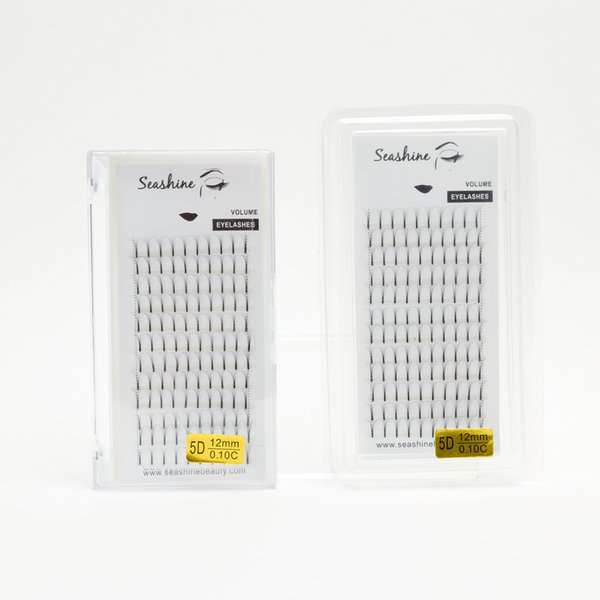 Seashine low prices false eyelashes russian volume 5d pre fanned eyelash CD curl 8-15 mm single length