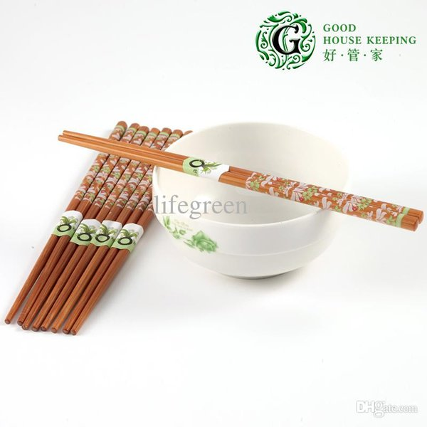 Wholesale-House print bamboo chopsticks technology chopsticks antibacterial household choptsicks quality gift