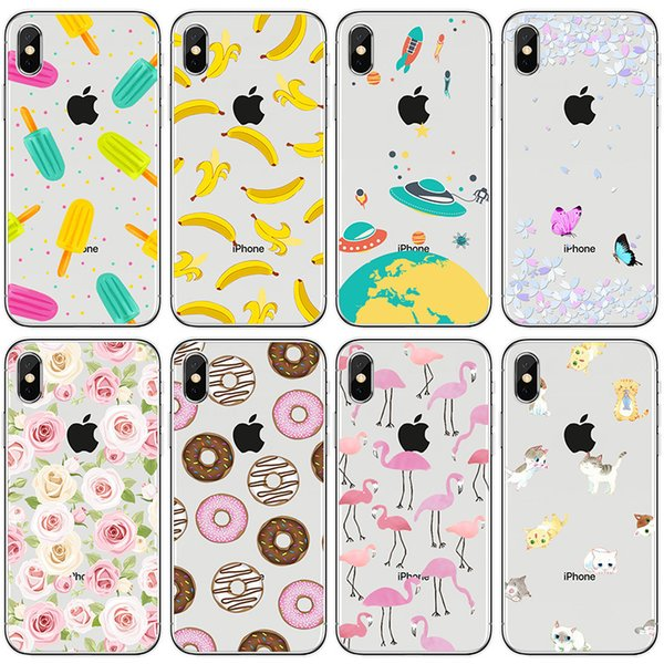 Fundas Moviles Baratas Tongtrade Cubierta De La Caja Para Iphone X 8 7 6s 5s Plus Donas De Dibujos Animados Postre Silicona Tpu Coloreado Galaxy S9 S8