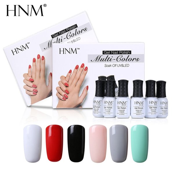 Commercio all'ingrosso 6 Pz / set 8 ML Gel UV Nail Polish Timbratura Set Nail Polish Gift Box Vernice Semi Permanente Solido Gelpolish FAI DA TE Nail Art Kit
