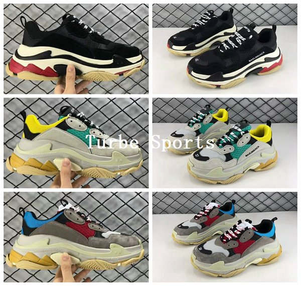 sale 2018 paris triple s luxury shoes low sneakers casual outdoor athletic sports trainers size 35-44 ing