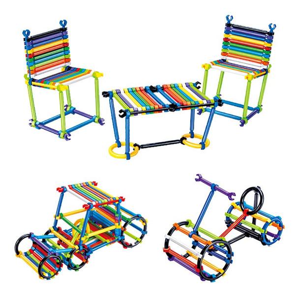 Atacado 1000 PCS Crianças Puzzle Brinquedos para Crianças Vara De Construção De Plástico Haste Mágica DIY Brinquedos Educativos Melhorar A Criatividade Diy Blocos