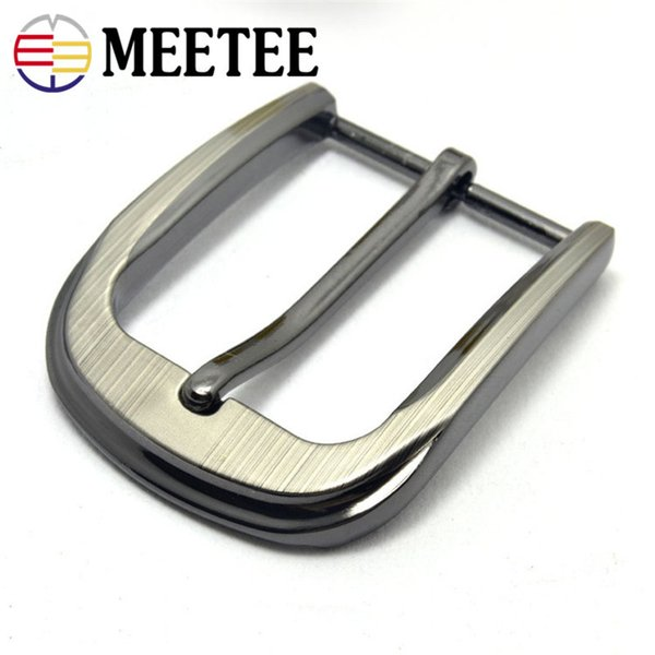 MEETEE Hot Leather Craft Clothes Accessory Pin Buckle Belt DIY 35mm Metal Zinc Alloy Belt Buckles Men Gift Free Shipping ZK841