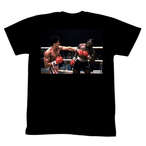 Rocky Tall T-Shirt Left Hook In Ring Support Dropship Tee Tees Shirt Men Boy Online Designer Custom Short Sleeve Boyfriend's 3XL Men's Tshir